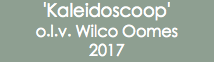 'Kaleidoscoop' o.l.v. Wilco Oomes 2017